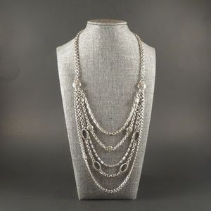 Brighton Multistrand Silvertone Statement Necklace